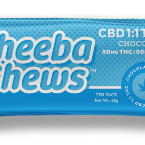 Buy Cheeba Chews THC 1:1 CBD Chocolate Taffy 250mg